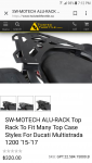 SW-Motech Rear Rack - Multistrada