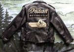 Leather Motorcycle Jacket with Indian Motorcycle patches $280 or best offer - Pickering