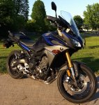 SOLD - 2017 Galaxy Blue Yamaha FJ 09 Sport Touring Bike with 3560 km