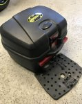FS: Universal Motorcycle Top Case Trunk With Mounting Plate -35 L